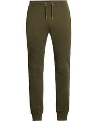 Balmain Biker Cotton Track Pants