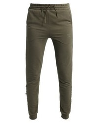 Puma Lacing Tracksuit Bottoms Olive Night