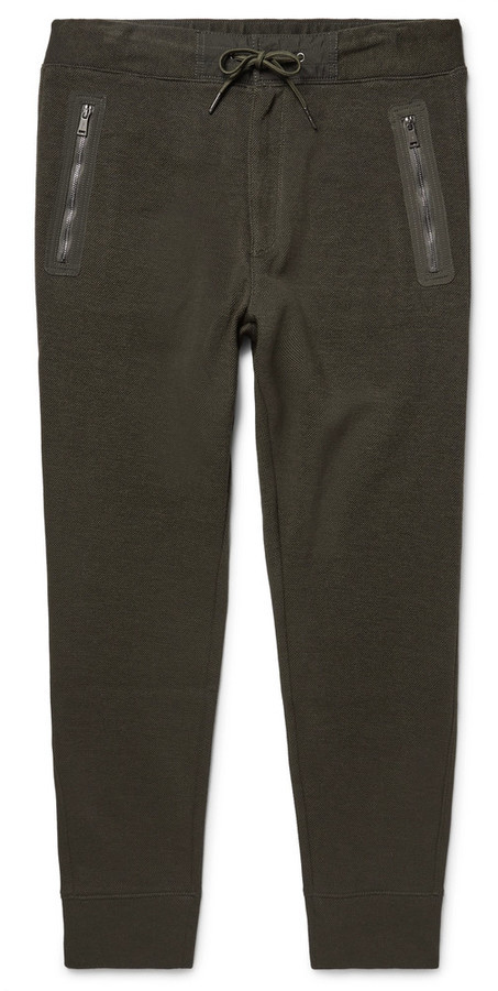 Slim-fit Tapered Shell-trimmed Birdseye Cotton-blend Sweatpants Polo Ralph Lauren Outlet Best Seller Online Shopping Buy Cheap With Paypal YQnVbEzd