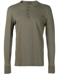 Tom Ford Button Detail Sweatshirt