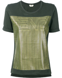 Fendi Gold Tone Motif T Shirt
