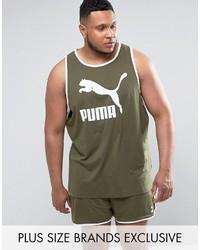 Puma Plus Jersey Tank In Green To Asos