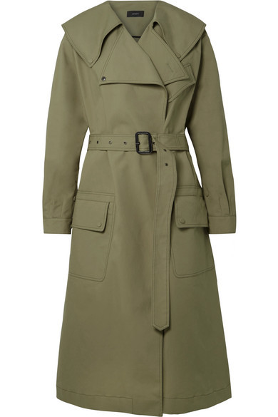 Joseph Damon Oversized Cotton Garbardine Trench Coat