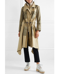 Chloé Gabardine And Wool Med Twill Trench Coat