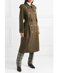 Burberry The Westminster Long Cotton Gabardine Trench Coat