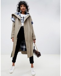 ASOS WHITE Trench Coat With