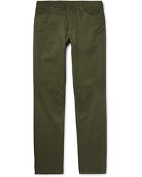 Dunhill Slim Fit Brushed Cotton Twill Chinos