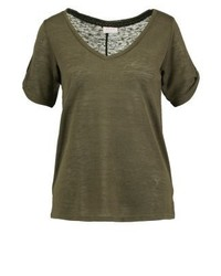 Vila Uran Basic T Shirt Ivy Green