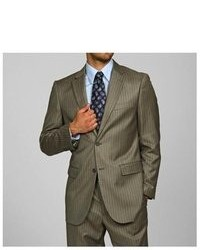 Olive Vertical Striped Blazer