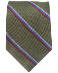 Olive Vertical Striped Tie