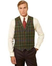 Brooks Brothers Multi Plaid Vest