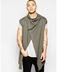 Asos Sleeveless Cowl Neck Cardigan