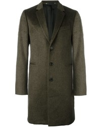 Paul Smith Ps By Single Breasted Fitted Coat