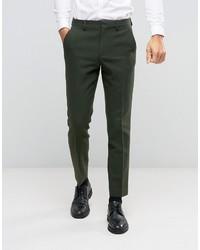 Slim suit pant in khaki in 100 wool medium 836820