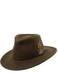 Classico crushable felt outback hat brown medium 95394