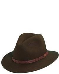 Classico crushable felt safari hat black medium 95443