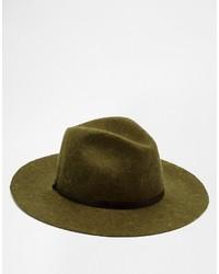 Catarzi Wide Brim Unstructured Fedora Hat