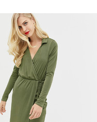 ASOS DESIGN Slinky Wrap Mini Dress