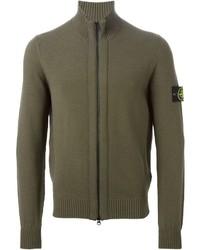 Olive Zip Sweater