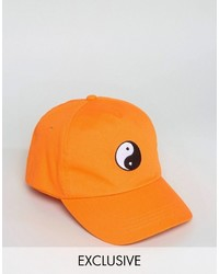 ef777ea78d7 Reclaimed Vintage Inspired Baseball Cap With Yin Yang Embroidery