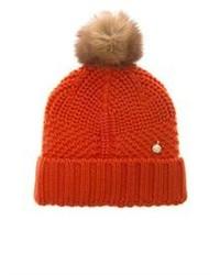 Woolrich John Rich Bros Serenity Fur Pompom Wool Knit Beanie