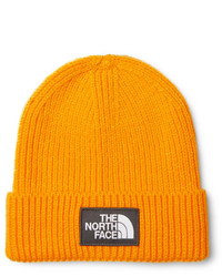 The North Face Logo Appliqud Ribbed Knit Beanie