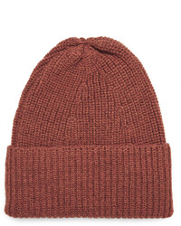 The Workers Club Ribbed Mlange Merino Wool Beanie