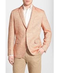 Flynt classic fit herringbone cotton linen sport coat medium 237867