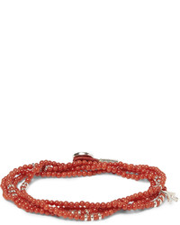 Coral and silver wrap around bracelet medium 244891