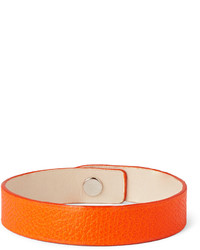 Pebble grain leather bracelet medium 244888