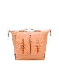 Orange Canvas Backpack