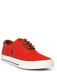 Orange Canvas Low Top Sneakers