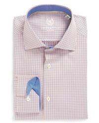 Bugatchi Big Tall Trim Fit Microcheck Dress Shirt