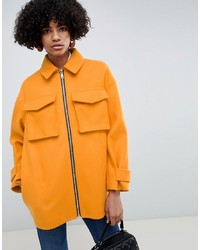 ASOS DESIGN Coat With Utility Pockets