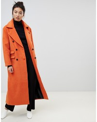 NEON ROSE Maxi Double Breasted Overcoat