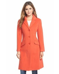 Shaped wool blend coat medium 379474