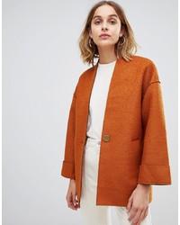 Warehouse Short Bonded Coat In Tan