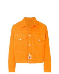 Orange Corduroy Shirt Jacket
