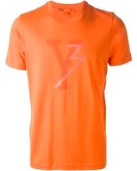 Orange Crew-neck T-shirt