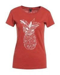J.Crew Pineapple Print T Shirt Burnished Orange