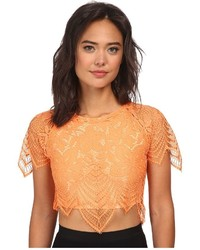 Orange Cropped Top