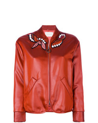 Marco De Vincenzo Embroidered Patch Bomber Jacket