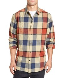 Orange Flannel Long Sleeve Shirt