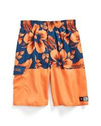 Rip Curl Aggrosplit Volley Swim Trunks Orange Floral Small