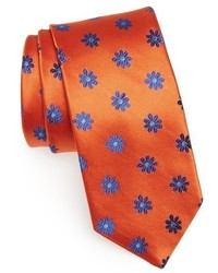 Orange Floral Tie
