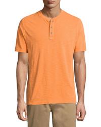 Orange Henley Shirt