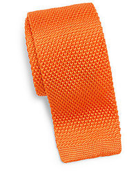 Orange Knit Tie