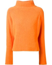 Orange Knit Turtleneck