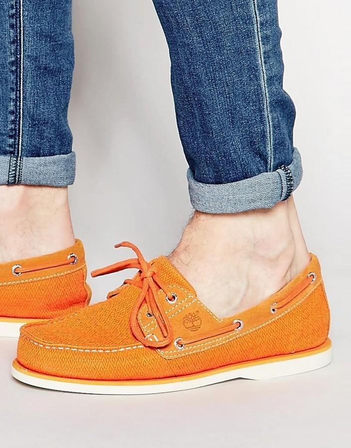 timberland scarpe orange