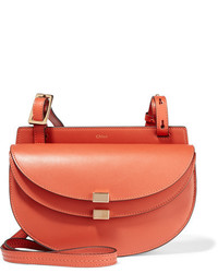 Chloé Georgia Leather Shoulder Bag Orange